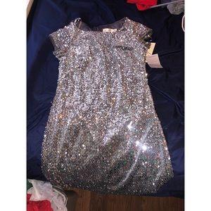 Eliza J Silver Sequin Sheath Dress